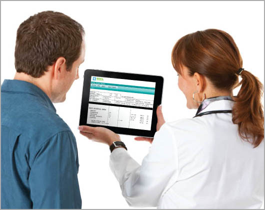 NICL iPad Nurse with Patient